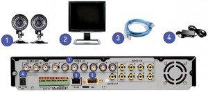 Lorex LH108321C8B Camera Surveillance System Contents